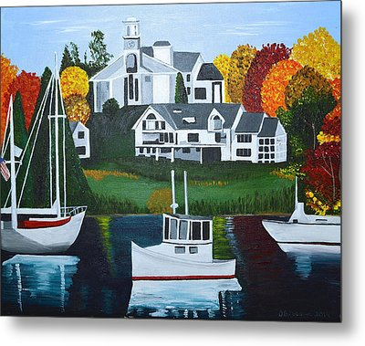 Impressions Of New England Two Metal Print
