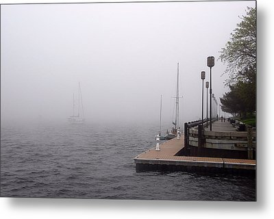 In A Fog In Newburyport Metal Print