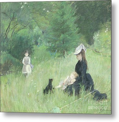 In A Park Metal Print by Berthe Morisot