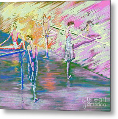 In Ballet Class Metal Print by Cynthia Sorensen