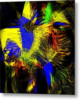 In Chaos - Yet Here Is My Praise Metal Print by Fania Simon