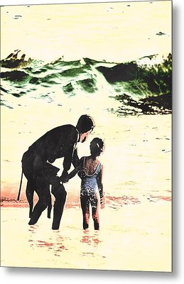 In Daddy's Arms Metal Print
