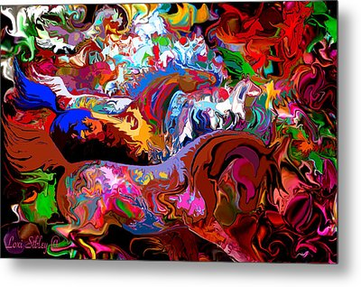 Metal Print featuring the digital art In Dreams by Loxi Sibley