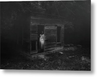 In Fear She Waits Metal Print by Tom Mc Nemar
