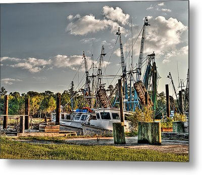 In For The Day Metal Print by Andrew Crispi