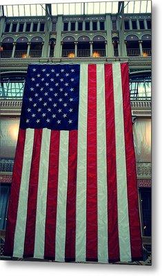 In God We Trust American Flag Milwaukee Wi Metal Print by Laura Pineda