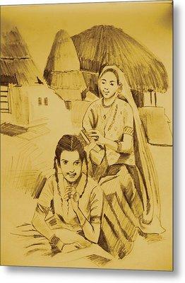 In Her Company Metal Print by Navjinder Kainthrai