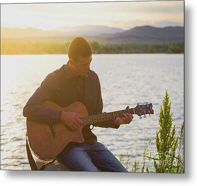 In His Own World Metal Print