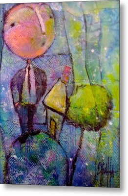 Metal Print featuring the painting In His World by Eleatta Diver