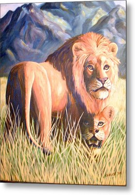 In Lions Time Metal Print