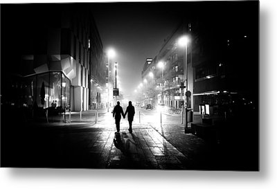 In Love - Dublin, Ireland - Black And White Street Photography Metal Print
