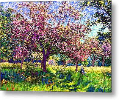 In Love With Spring, Blossom Trees Metal Print by Jane Small
