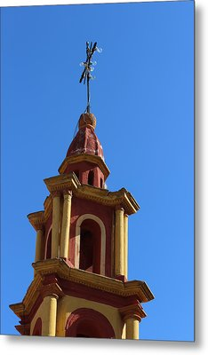 In Mexico Bell Tower Metal Print