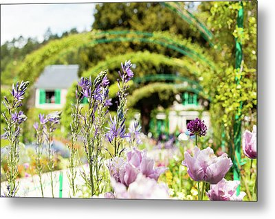 In Monet's Garden Metal Print