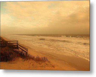 In My Dreams The Ocean Sings - Jersey Shore Metal Print