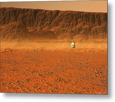 In Search Of Water Metal Print by David Robinson