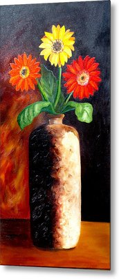 Metal Print featuring the painting In Sharp Contrast.  Sold by Susan Dehlinger