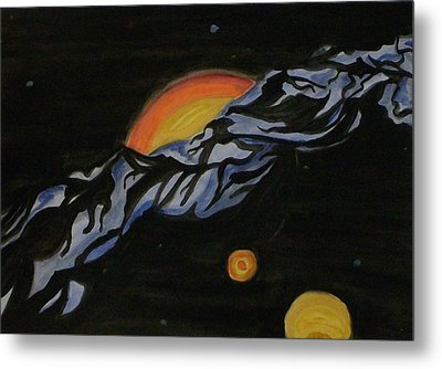 In Space Metal Print by Carolyn Cable