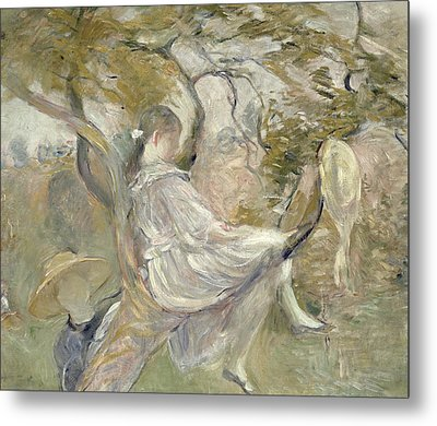 In The Apple Tree Metal Print by Berthe Morisot