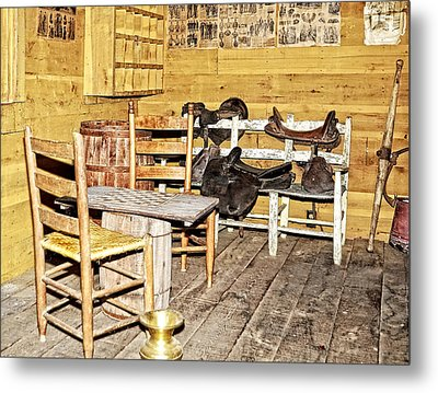 In The Barn Metal Print by Susan Leggett
