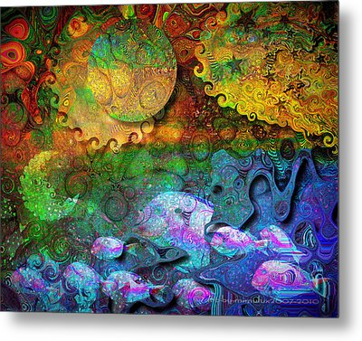 In The Beginning Metal Print by Mimulux patricia no No