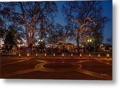In The Center Of Town At The Crack Of Dawn Metal Print