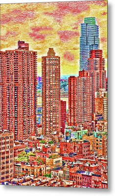 Metal Print featuring the photograph In The City by Barbara Manis