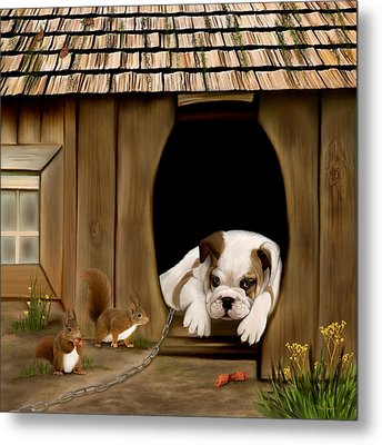 In The Dog House Metal Print by Thanh Thuy Nguyen