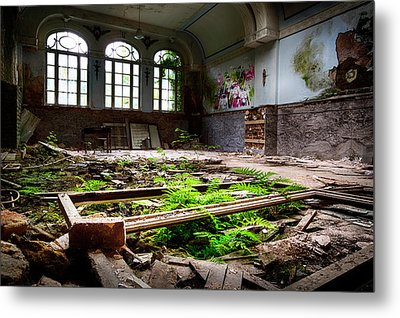 In The End Nature Always Wins - Urbex Abandoned Building Metal Print by Dirk Ercken