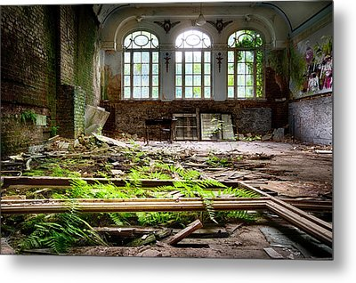In The End Nature Always Wins - Urbex Abandoned Hotel Metal Print by Dirk Ercken