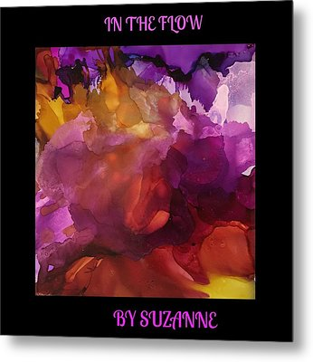 In The Flow Metal Print by Suzanne Canner
