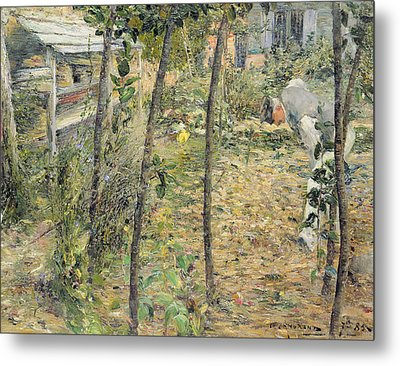 In The Garden Metal Print by Charles Angrand
