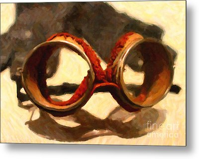 In The Golden Age Of Driving Metal Print by Wingsdomain Art and Photography