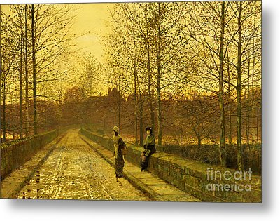In The Golden Gloaming Metal Print