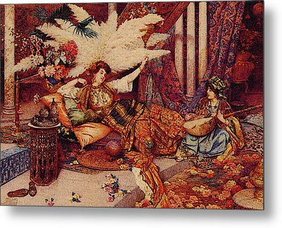In The Harem Metal Print by Guiseppe Signorini