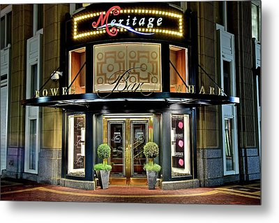 In The Heart Of Downtown Boston Metal Print by Frozen in Time Fine Art Photography