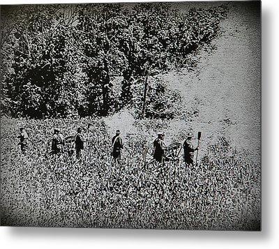 In The Heat Of Battle - Gettysburg Pa Metal Print by Bill Cannon