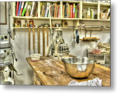In The Kitchen Metal Print by Irwin Seidman