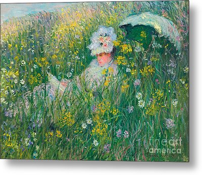 In The Meadow Metal Print by Claude Monet