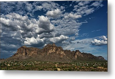 Metal Print featuring the photograph In The Midst Of The Superstitions  by Saija Lehtonen