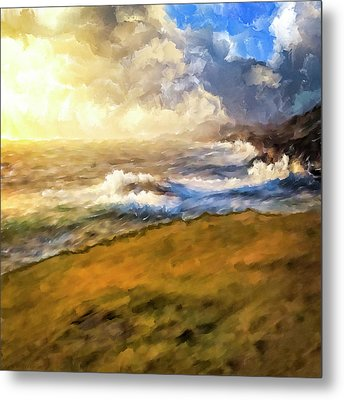 Metal Print featuring the mixed media In The Moment by Mark Tisdale