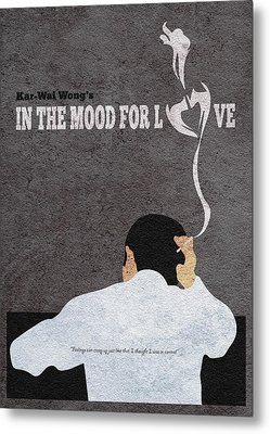 In The Mood For Love Minimalist Alternative Movie Poster Metal Print