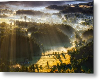 In The Morning Mists Metal Print by Piotr Krol (bax)