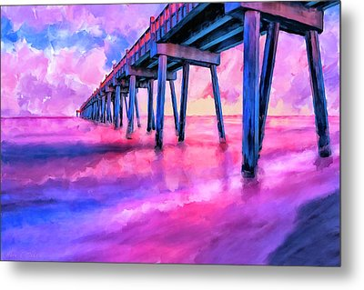 In The Pink On Pensacola Beach Metal Print