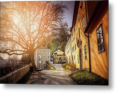 In The Shadow Of Salzburg Castle  Metal Print