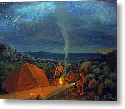 In The Spotlight Metal Print by Donna Tucker