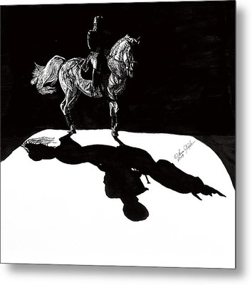 In The Spotlight I Metal Print by Lana Tyler