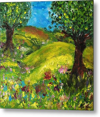 Metal Print featuring the painting In The Summer by Evelina Popilian