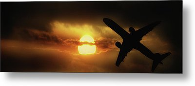 In The Suns Shadow Metal Print by Martin Newman