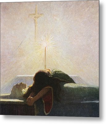 In The Tower Of London Metal Print by Newell Convers Wyeth